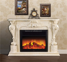 Villa Louis Style Decorative Stone Effect Hearth Fireplace and Surround