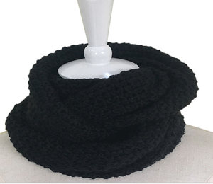Guaranteed Quality 200g 43CMx20CM Polyester Black Neck Fashion Knitted Scarf/Muffler