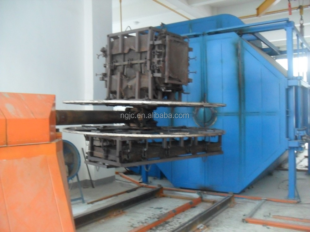Shuttle rotational molding machine one station service manufacturers plastic container/tank maker