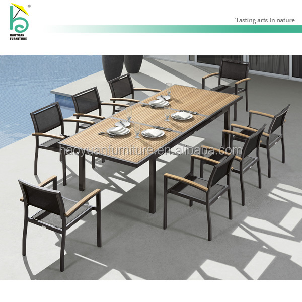 outdoor extendable table outdoor patio furniture dining table and chairs