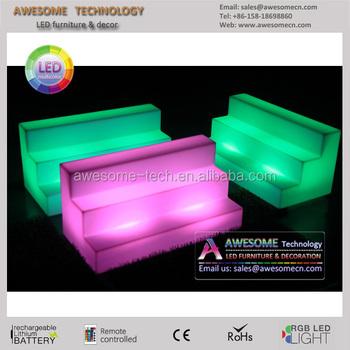 Rgb Lighting Led Acrylic Shelf / Lighted Bar Shelf