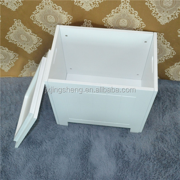 Varsace furniture modern design rubber wooden white bathroom basket, storage box for bathroom furniture
