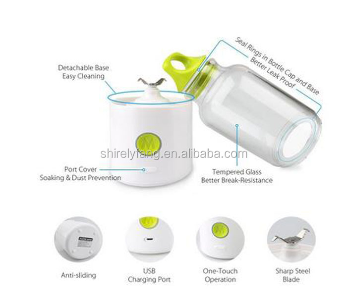 Creative Gift Portable Juicer Cup 700ml Rechargeable Electric Juice Blender & Mixer Personal Smoothie Maker