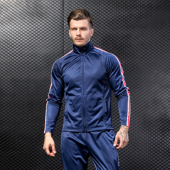 2018 Men S Gym Fitness Clothing Fashion Zipper Jacket Fitted