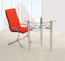 Modern Kitchen Round Table Dining Room Furniture Glass Dining Set