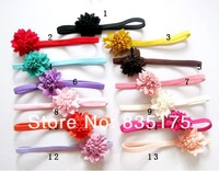 CF 0719 Girls fashion wholesale stretchy skinny elastic floral flower baby hair headbands