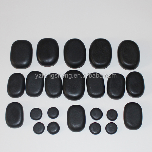 hot selling black basalt hand made black polished Massage Stone/hot stone heater/hot stone massage set