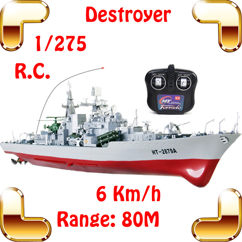 New Summer Gift HT-2879A Destroyer 1/275 RC Racing Ship Boat Army Radio Control Toys Simulational Model Ship History Decoration