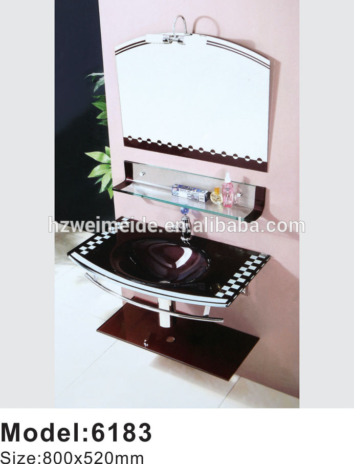 China made sanitary ware glass sink Tempered glass basin