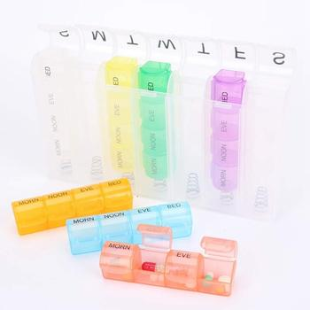 Wholesale 28 Compartments Pop-Up Plastic 7 Days Weekly Portable Monthly Pill Box