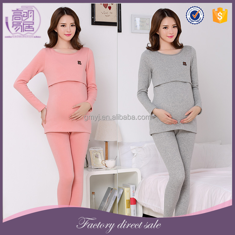 Latest Cotton Knitting Women Nursing Sleep Maternity Pajamas Clothes
