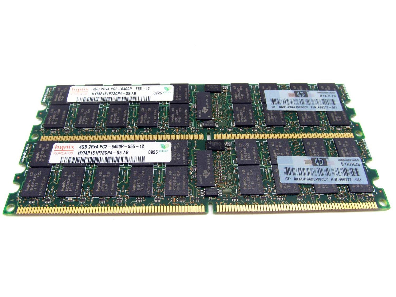 Get Quotations HP 8GB 2 X 4GB 800MHz DDR2 DIMM Server Memory 497767 B21