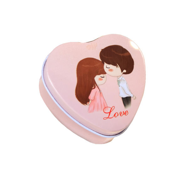 wedding favors heart shape tin box christmas customized candy tin can