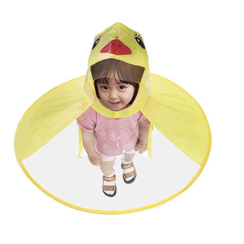 Old Tjikko Kids Raincoat,Children's Cloak,Hooded Poncho Packable Cartoon Umbrella for Baby Boys Girls