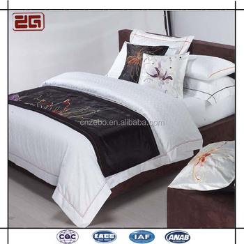 Elegant 5 Star Hote Used Sateen Fabric 60*60s Hotel Cotton Bed Sheet Set For Sale