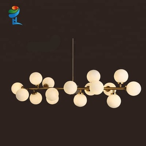 creative design decorative European glass ball chandelier
