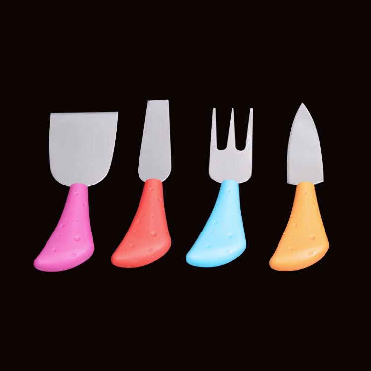 cute cheese knives mini fondue set of 4 kitchen craft colour works cheese serving