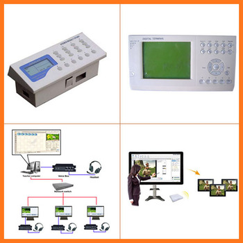 Multimedia classroom management analoge digital Language laboratory software for e-learning system