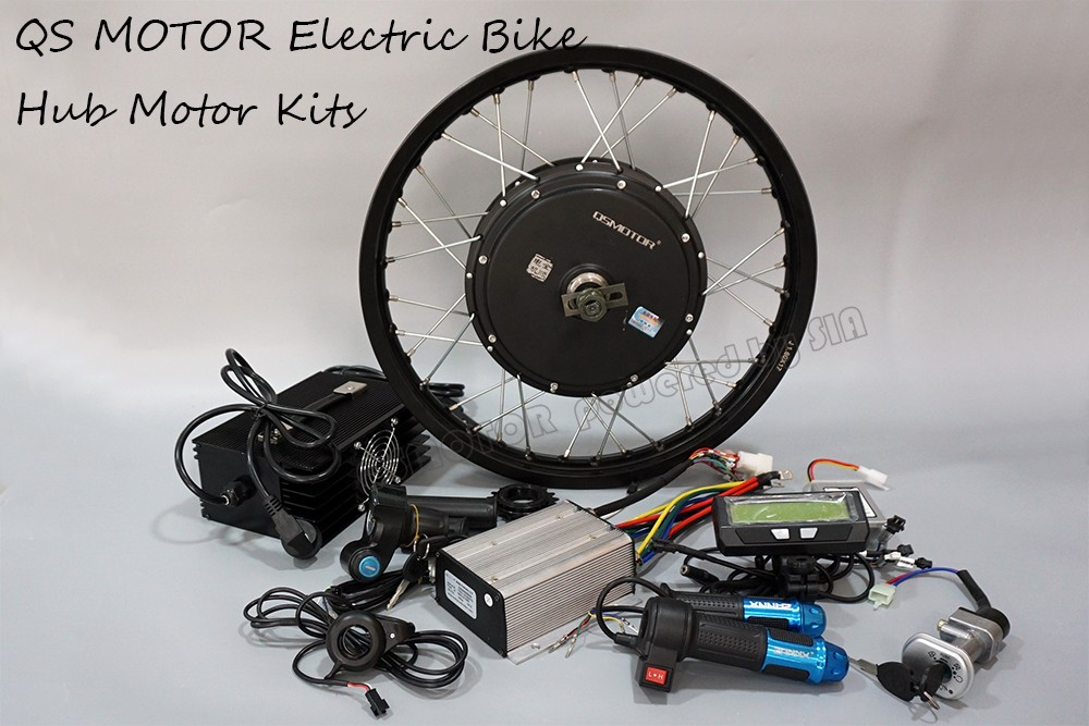 QS Motor 500W - 3000W 205 14kW peak brushless dc electric bike bicycle spoke hub motor