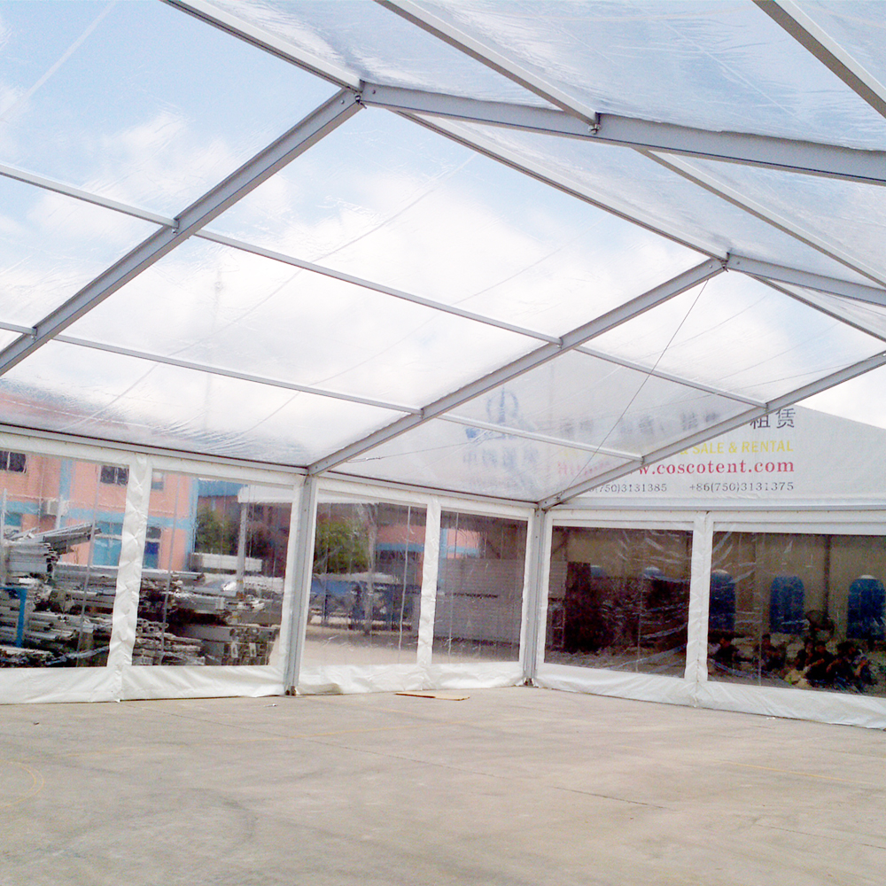 COSCO custom waterproof aluminum frame clear top marquee tent for outdoor event