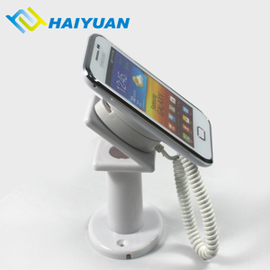 Retail table top mobile phone mechanical security plastic display holder for dummy phone