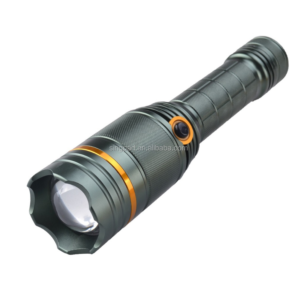 SingFire SF-388 XM-L T6 white light Scaling focal length flashlight, Red light and blu-ray alarm function