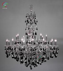 Large Black Crystal Chandelier For Ballroom