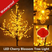 Luxury Handmade Artificial LED Cherry Blossom Tree night Light Christmas new year wedding Decoration Lights 150cm 480 LED