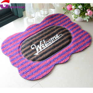 Double color PVC coil door mat joint for outdoor foot cleaning