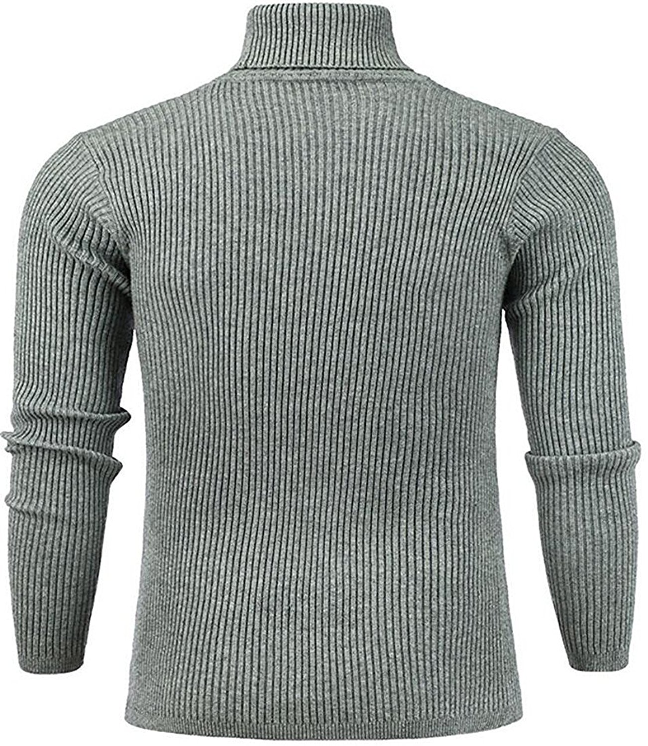 393bb62dfa0 Get Quotations · B dressy Fashion Men s Loose Turtleneck Knit Ribbed Slim Pullovers  Sweaters
