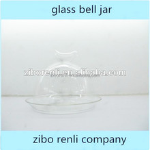 Garden New Clear Cloche Vintage Style Glass Candle Jars and Lids with Bird Knob