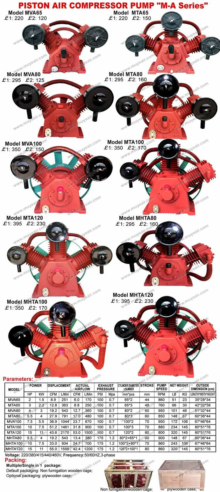 5 5hp 4kw Ta80 Air Compressor Pump Cylinder Head 8bar 100