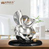 Hindu sitting elephant animal resin statue religious decoration table ornament
