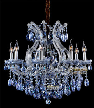 Charming Blue Crystal Maria Theresa Chandelier Contemporary Md8658 L8