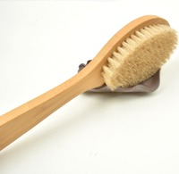 long handle wooden body brush and bath brush