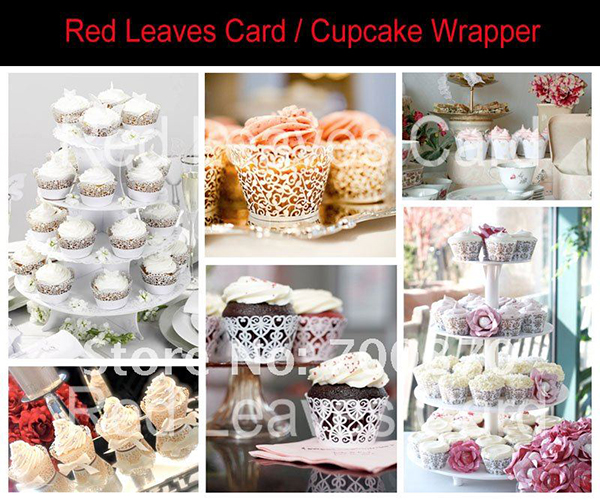 cupcake laser cut wrapper decoration for wedding