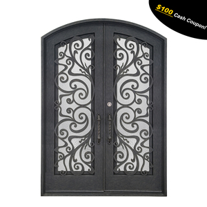 New design safety wrought iron grill door designs for sale