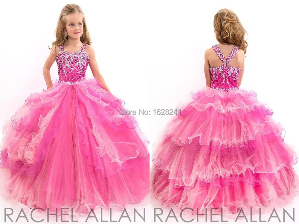 Robe Princesse Petite Fille Rose Robes à La Mode En Europe