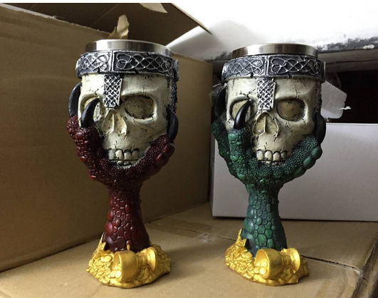 2019 Halloween Decoratieve Hars & Rvs Ghost Crypt Tankards Creepy Koffie Mok Cup