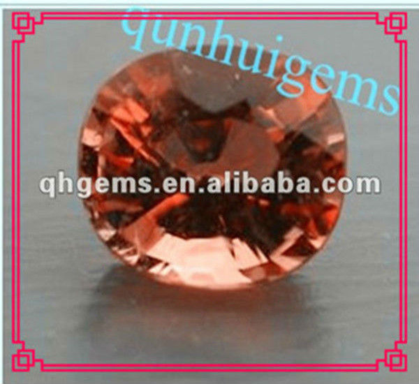 amazing oval shaped orange cubic zirconia stone
