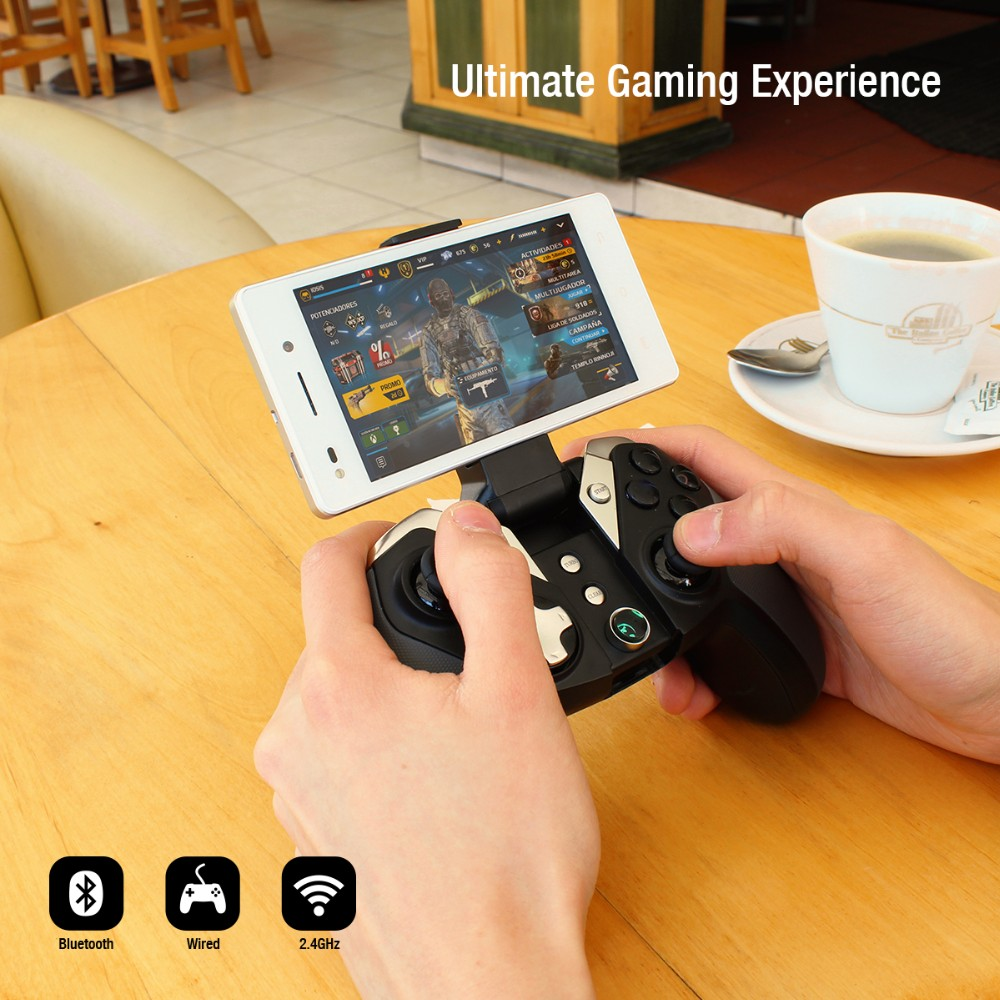 part of buttons import plating rubber coating marterial bluetooth 4.0 gamepad G4S in stock for Android