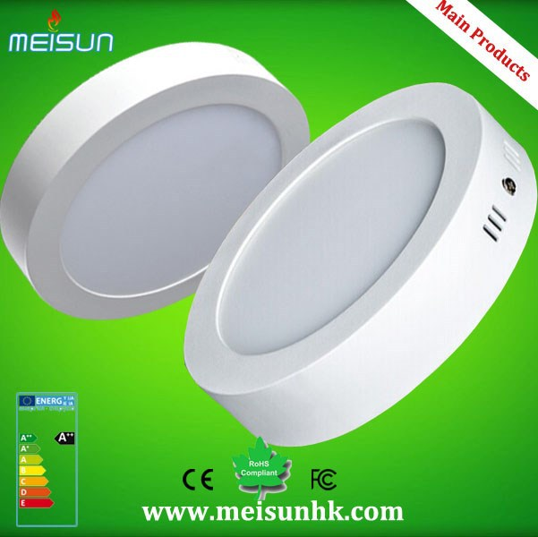 NEW arrival surface mounted led round panel light with SMD 2835,6w 12w 18w 24w ultra thin round & square led panel light