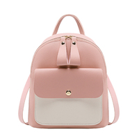 2019 New arrival fashion colorful multi-function mini women backpack,design contrast color PU school backpack