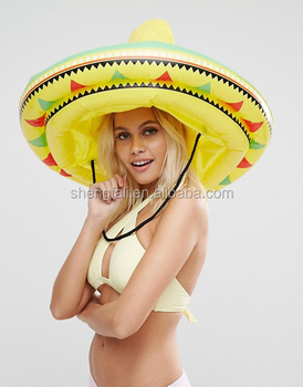Giant Yellow Pvc Inflatable Sombrero Hat For Party - Buy Cowboy Sombrero Hat  7187893577e5