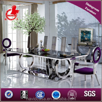 Captivating Latest Model A8068 Stainless Steel Dining Table Designs   Buy Glass Top  Dining Table Prices,Dining Table Prices,Stainless Base Dining Table Product  On ...