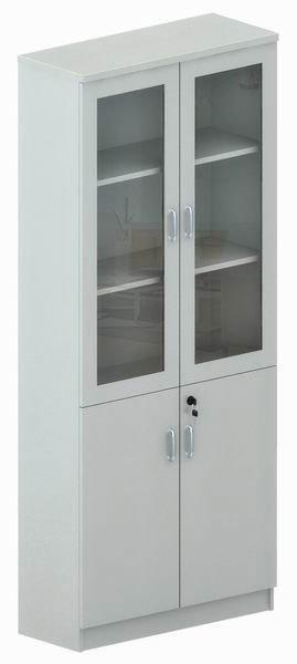 puertas de cristal moderno gabinete estantera gf