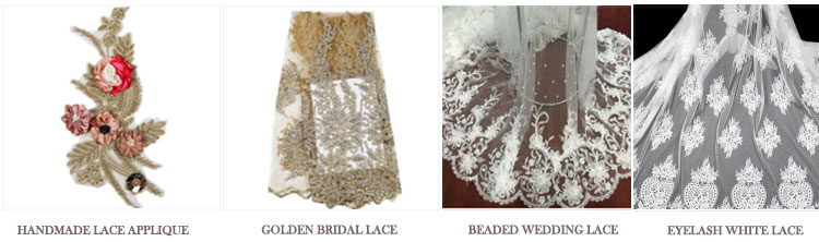 manufacture polyester sequins tulle cord nice french high-end design flat embroidered lace fabric