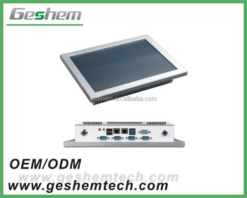 Geshemtech silver Heavy Industrial Panel PC with Intel Core i7/ i5/ i3, atom and Celeron, SSD, HDD,
