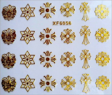2014 wholesale 3D Nail Art Stickers Gold Stones sticker Mix Design