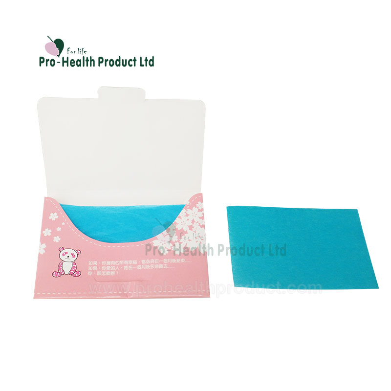 Promotional Gifts Customized Logo Paper Box Packing Design Facial Oil Blotting Paper Oil Absorbing Tissue